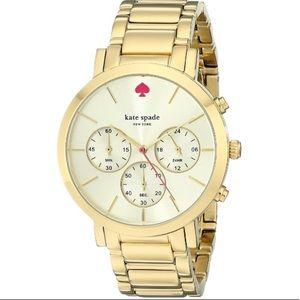 Kate Spade chronograph Gramercy watch gold